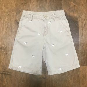 Dog Embroidered Shorts